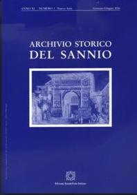 EDITORIALE: Archivio Storico del Sannio Gennaio – Giugno 2008