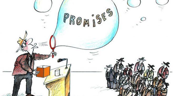 Promesse elettorali per una manciata di voti
